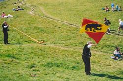 Ricolaaaa. Flag Tossing.