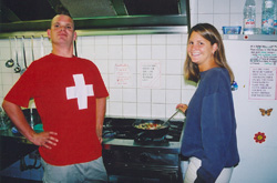 Jim and Lisa. The food to be proud of.