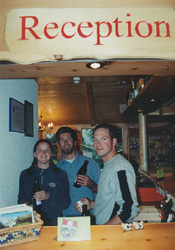 Amy, Jeff, and John--The Mountain Hostel Crew