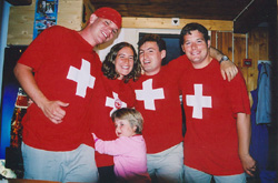 Jim, Amy, Alex, Nigel, and little Michelle.