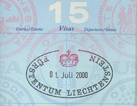 A stamp in the passport.